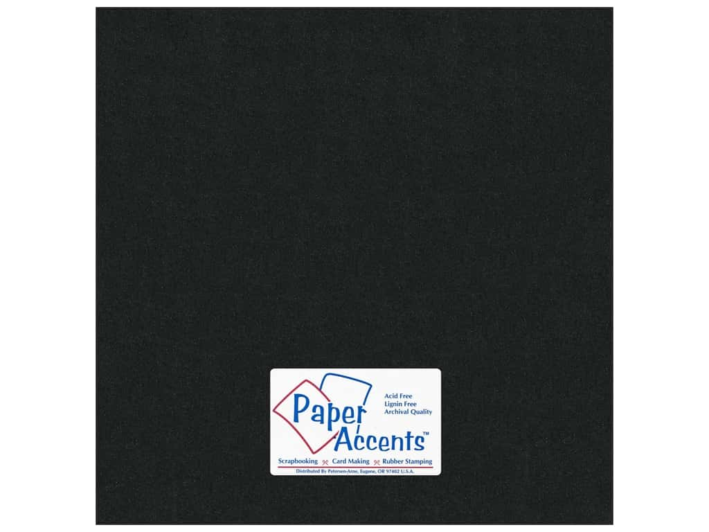 Paper Accents Cardstock 12 x 12 in. #855 Pearlized Onyx (25 sheets)