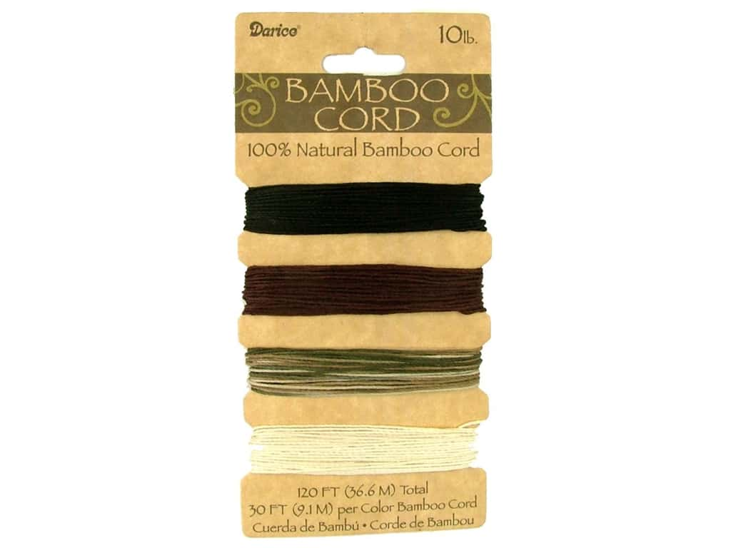 Darice Bamboo Cord Set 4 pc. 10 lb. Earthy