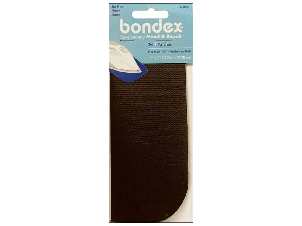 Bondex Iron On Patch 5 x 7 in. Seal Brown 2 pc.