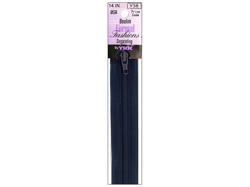 YKK Beulon Formal Fashions Separating Zipper 14 in. Limosine