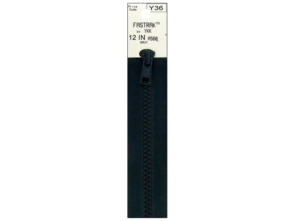 YKK Fastrak 1-Way Separating Zipper 12 in. Navy