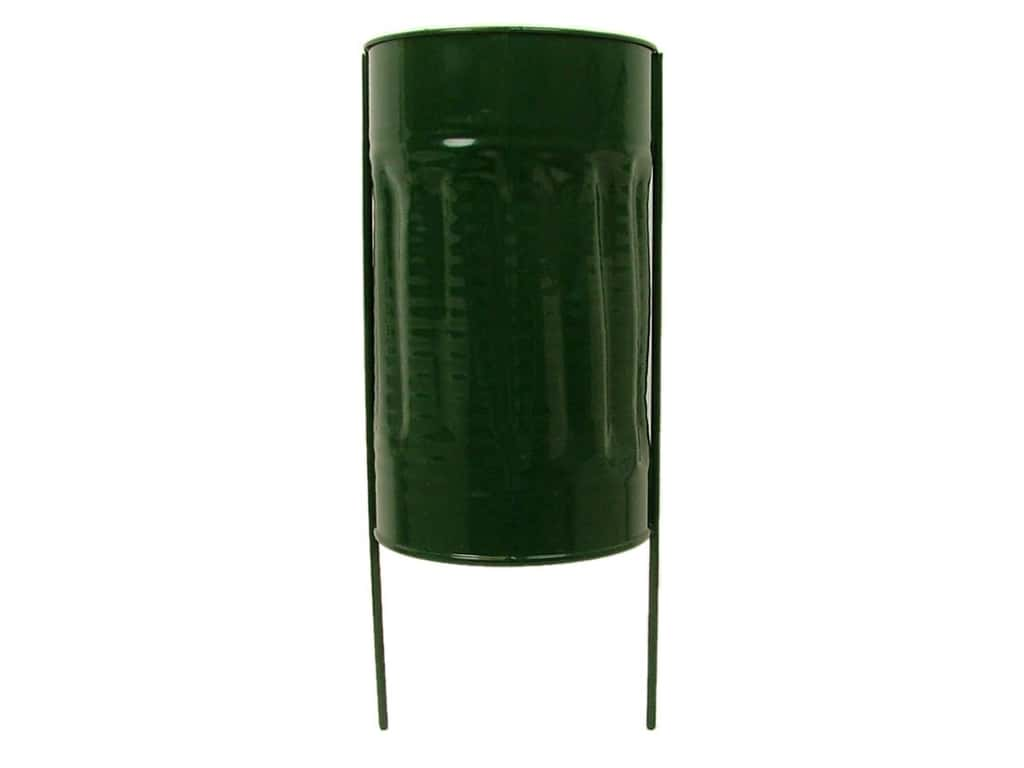 Panacea Cemetery Vase 4 x 7 in. Metal Green