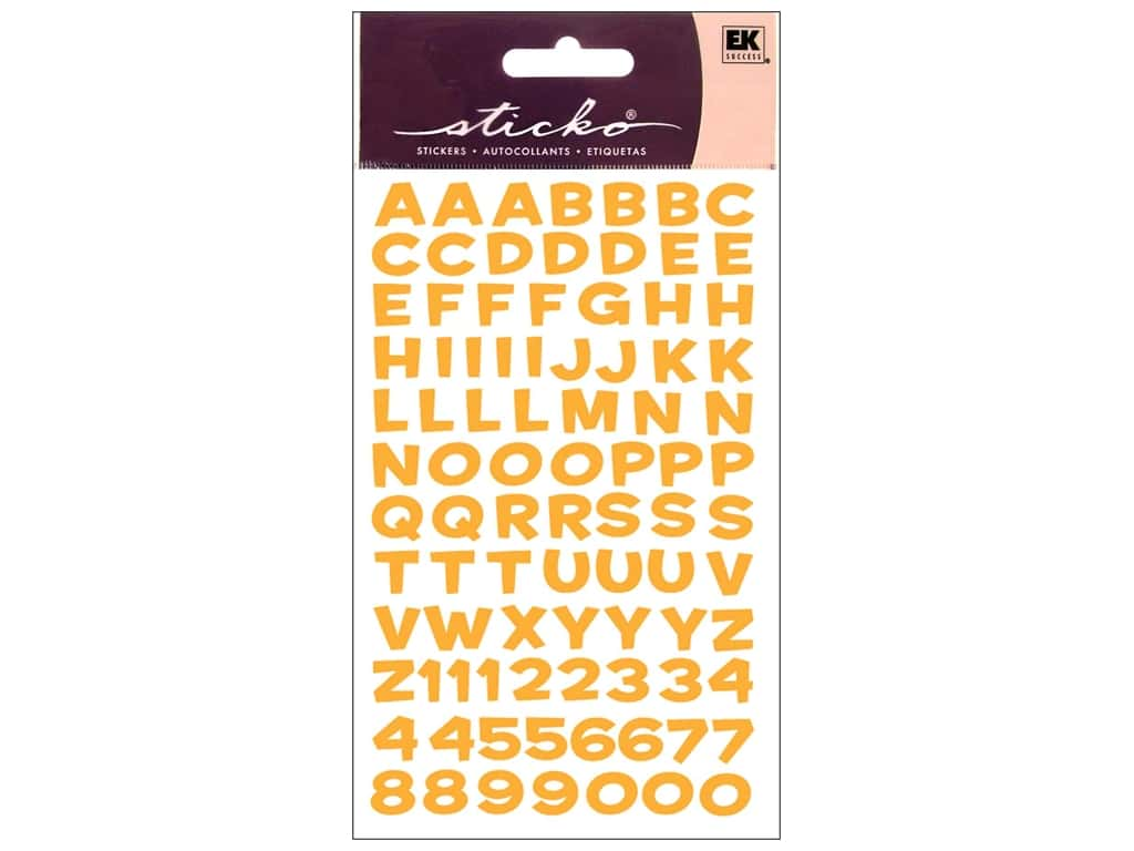 EK Sticko Alphabet Stickers Funhouse Metallic Yellow