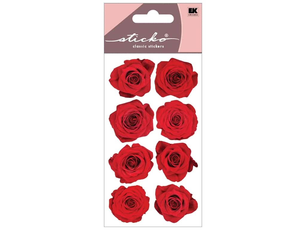 Sticko Stickers - Red Roses