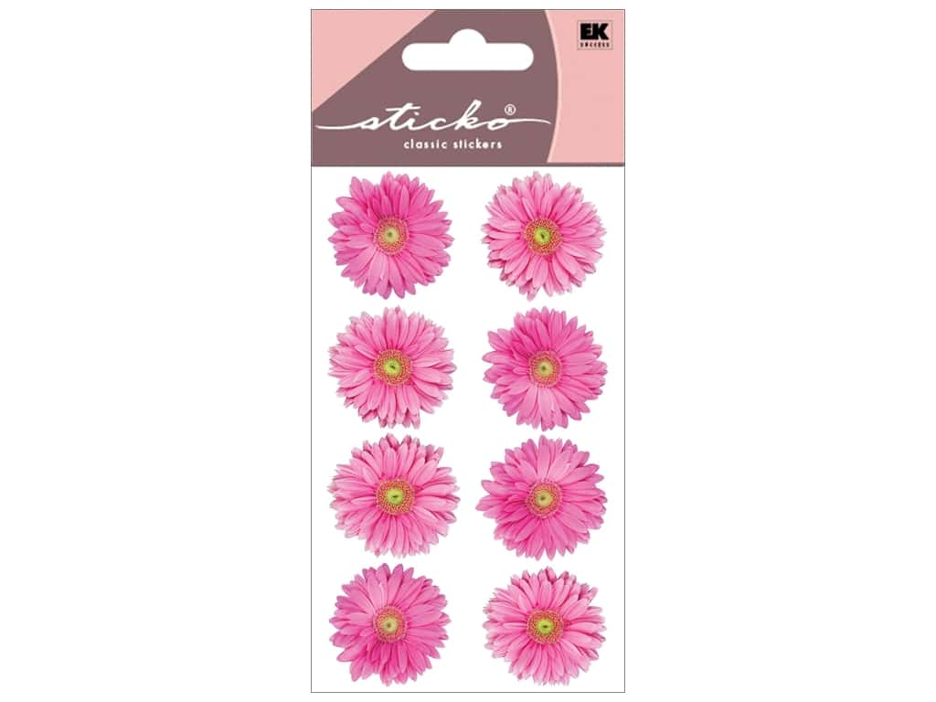 Sticko Stickers - Pink Gerbera Daisies