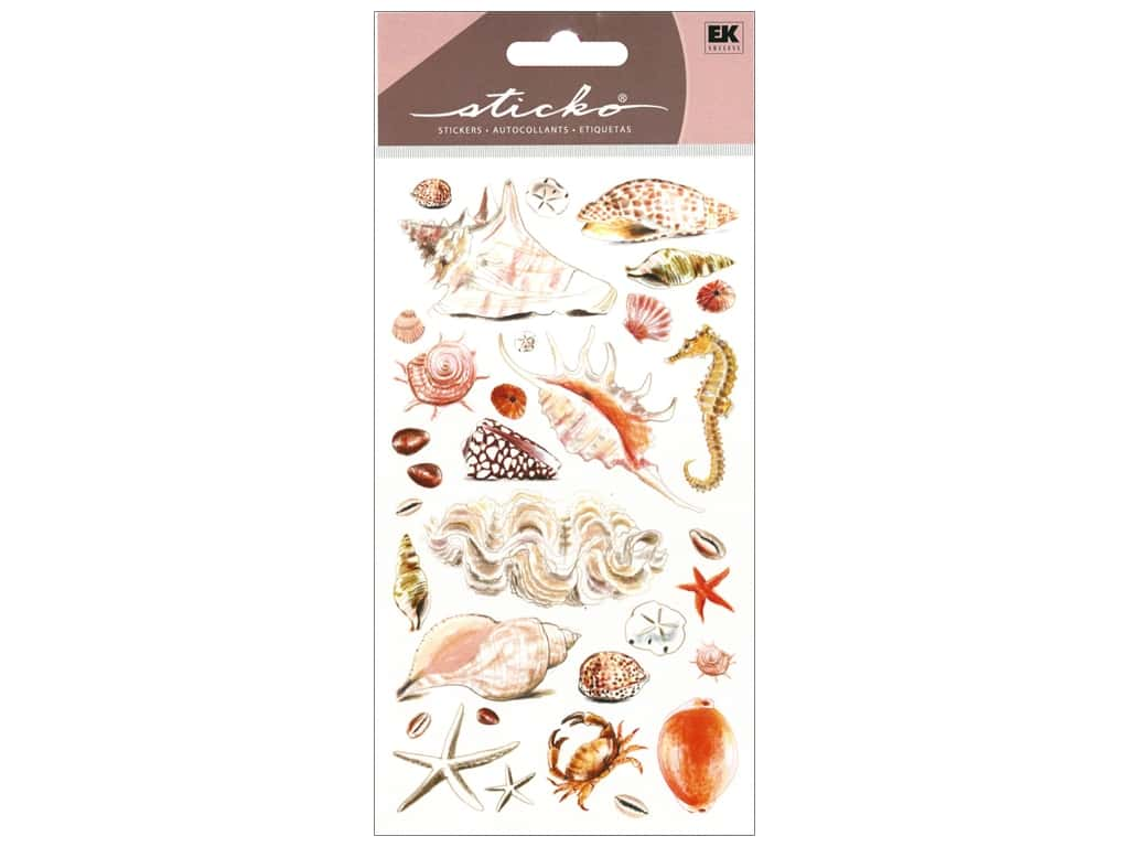 EK Sticko Stickers Sea Shells and Sand