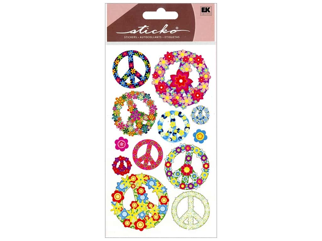 Sticko Stickers - Floral Peace Signs