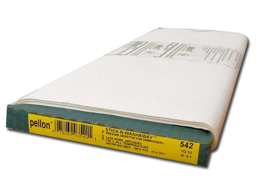 Pellon Stick-N-Washaway Stabilizer 18 in. x 10 yd. White (10 yards)