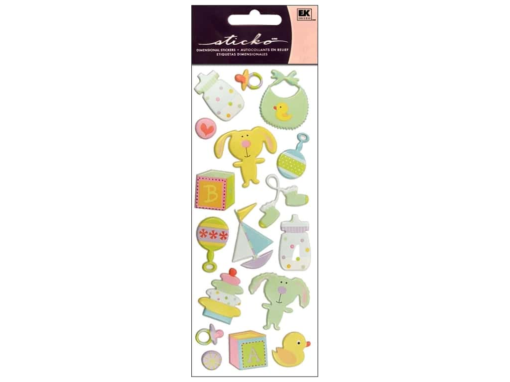 Sticko Puffy Stickers - Baby Toys