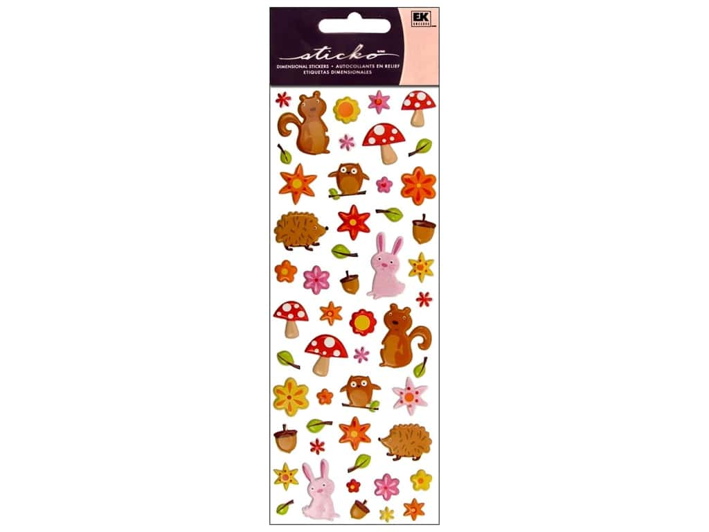 EK Sticko Stickers Puffy Woodland Animals