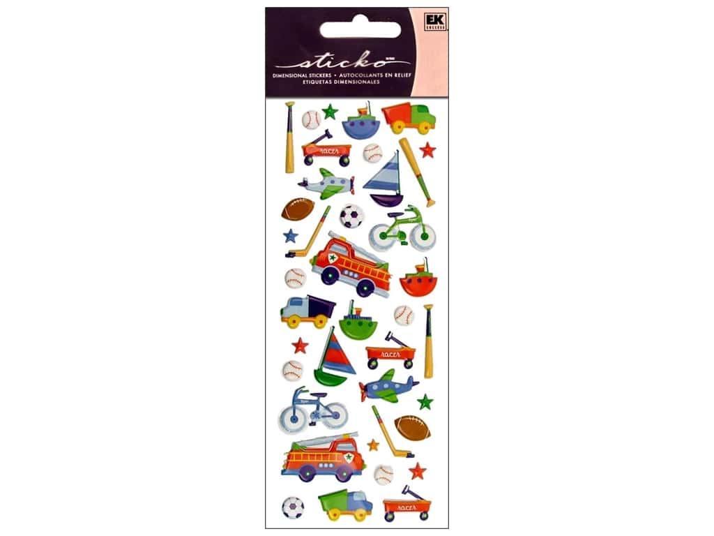 EK Sticko Stickers Puffy Toys for Boys