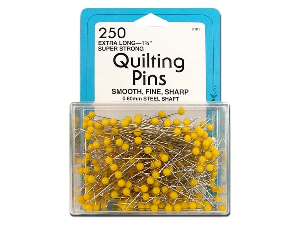 Quilting Pins by Collins 1 3/4 in. Yellow Head 250 pc.