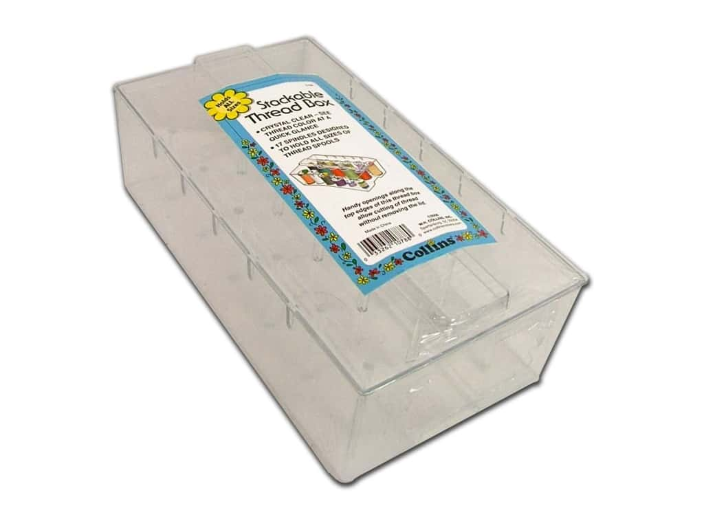 Stackable Thread Box by Collins  Acrylic 17 pegs