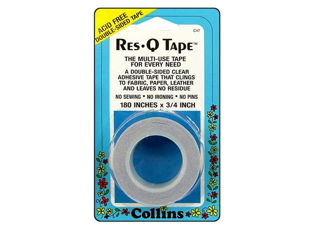 Res-Q Tape by Collins Double Sided 3/4 x 180 in.