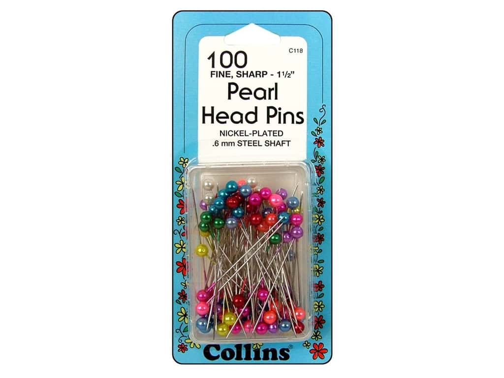 Pearl Head Pins Assorted by Collins 1 1/2 in. 100 pc.