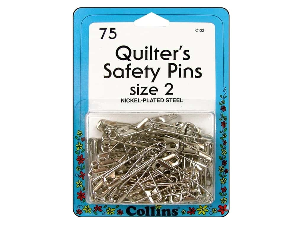 Quilter's Safety Pins by Collins 1 1/2 in. 75 pc.