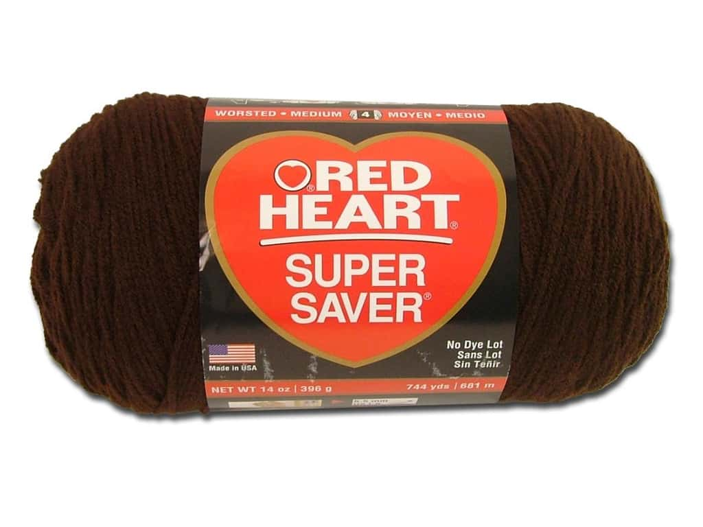 Red Heart Super Saver Jumbo Yarn 744 yd. #365 Coffee
