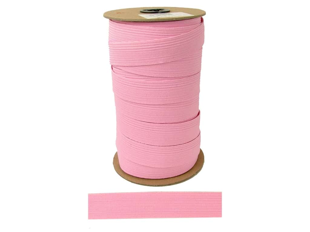 Conrad Jarvis Braided Flat Elastic 1 in x 36 yd Pink (36 yards)