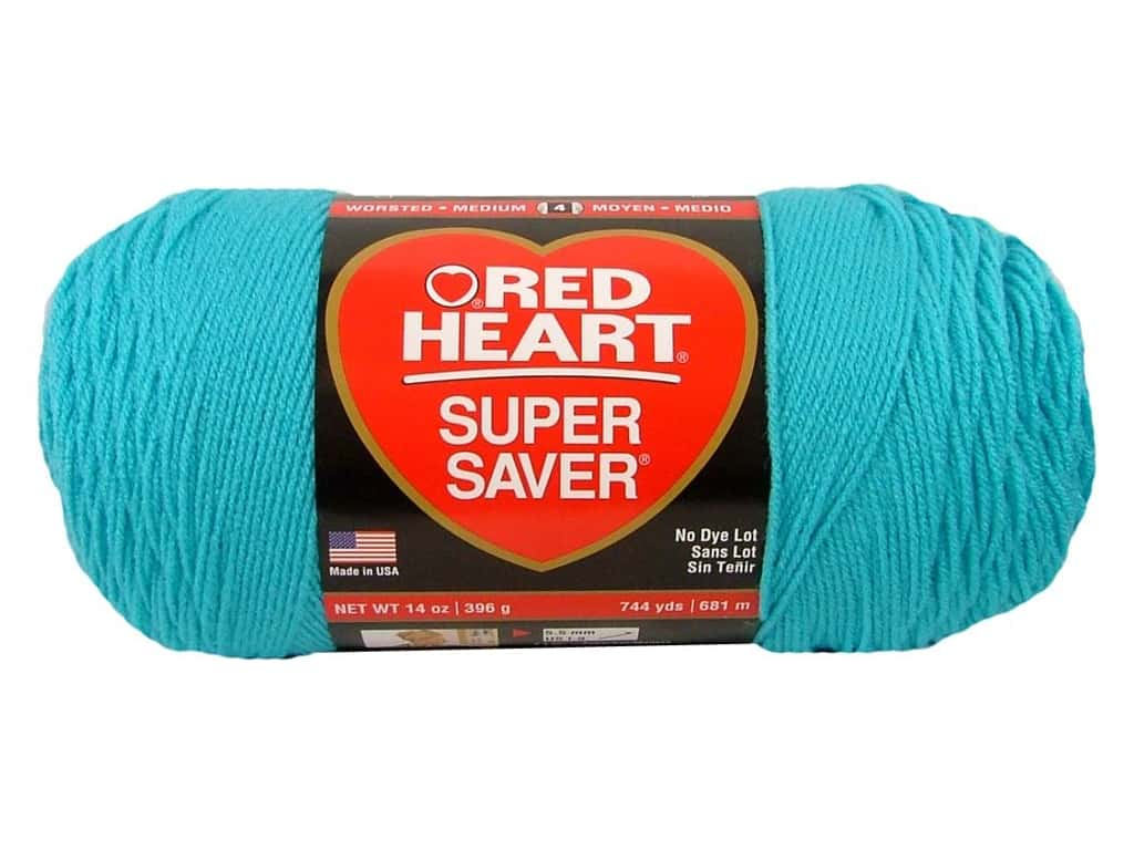 Red Heart Super Saver Jumbo Yarn 744 yd. #0512 Turquoise