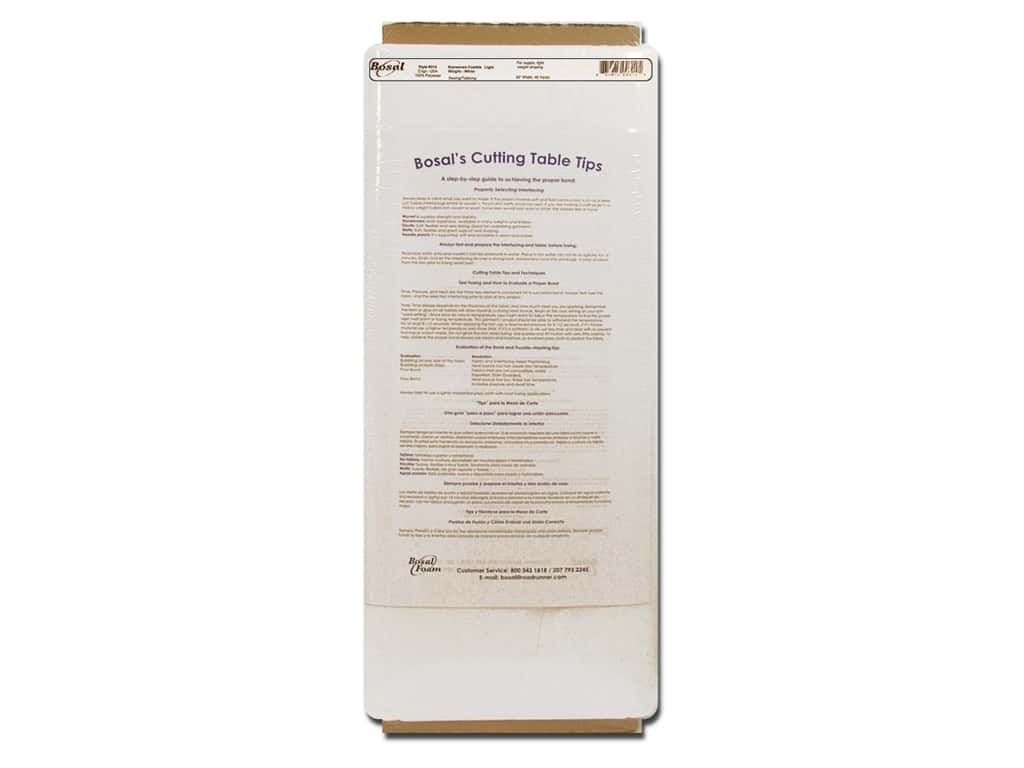 Bosal Interfacing Non Woven Fusible Light Weight 20 in. x 40 yd. White (40 yards)