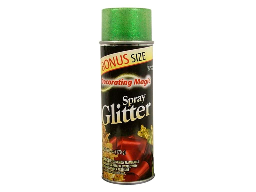 Chase Decorating Magic Spray Glitter 6 oz. Green
