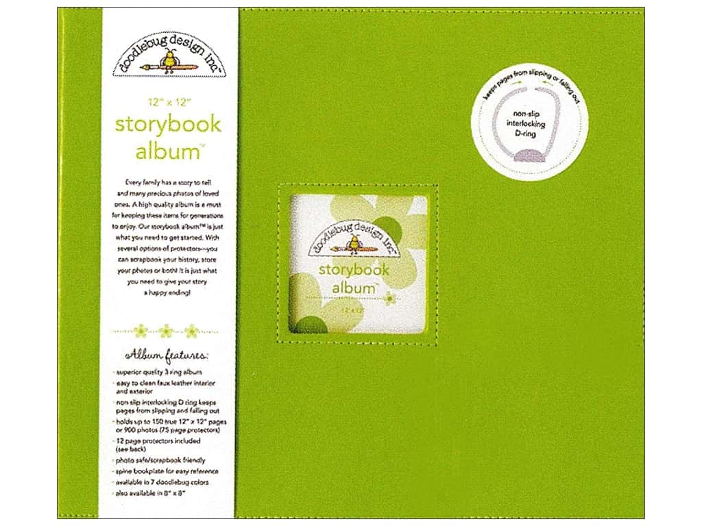 Doodlebug 12 x 12 in. Storybook Album Limeade
