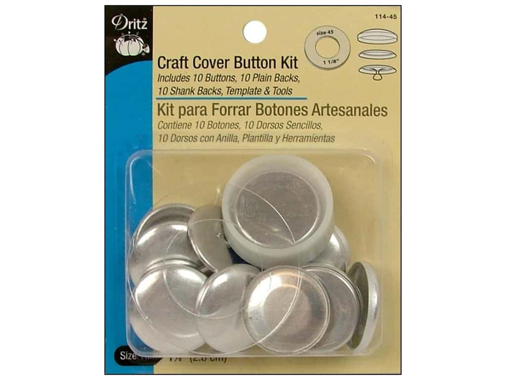 Dritz Craft Cover Button Kit - 1 1/8 in. 10 pc.