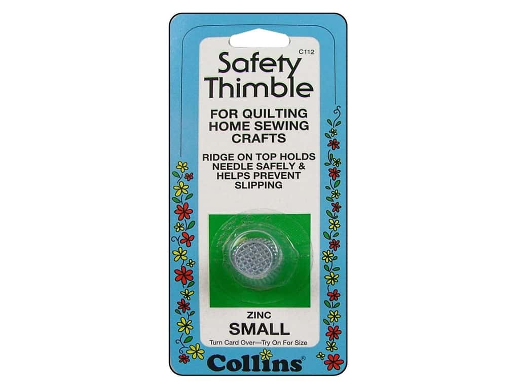 Safety Thimble by Collins Zinc Small
