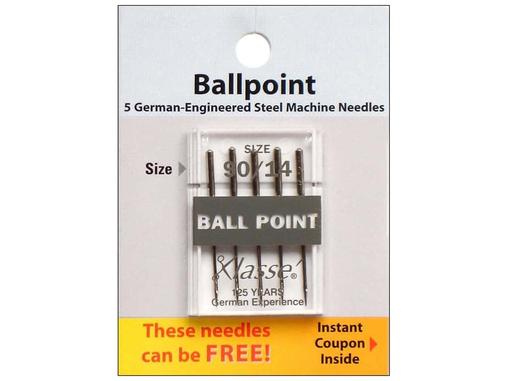 Klasse Ballpoint Machine Needles Size 90/14 5 pc.