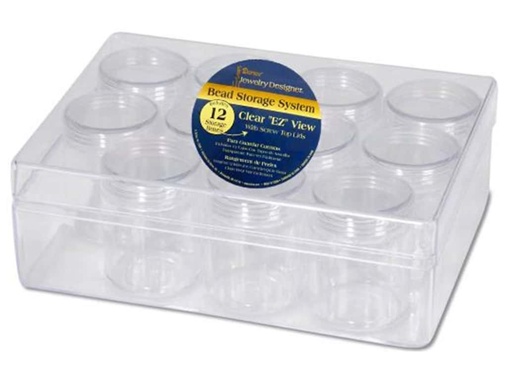Darice Bead Storage System 6 1/4 x 4 3/4 x 2 in. with 12 Containers