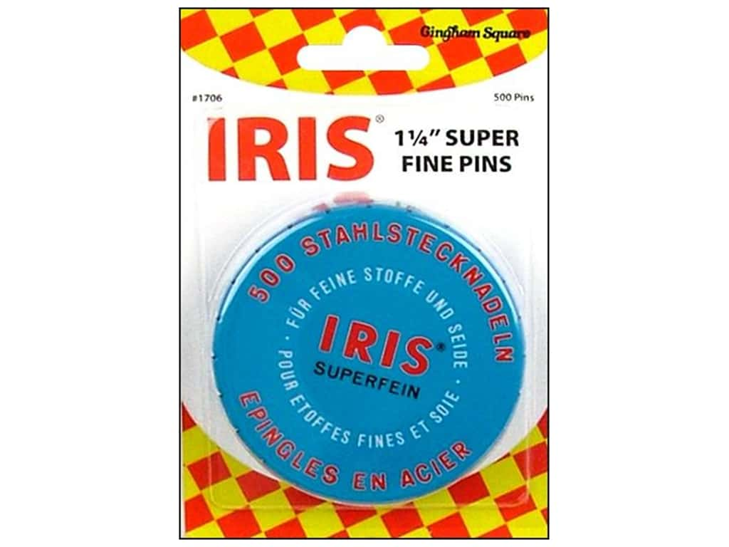 Gingham Square Notions Iris Swiss Super Fine Pin 500pc