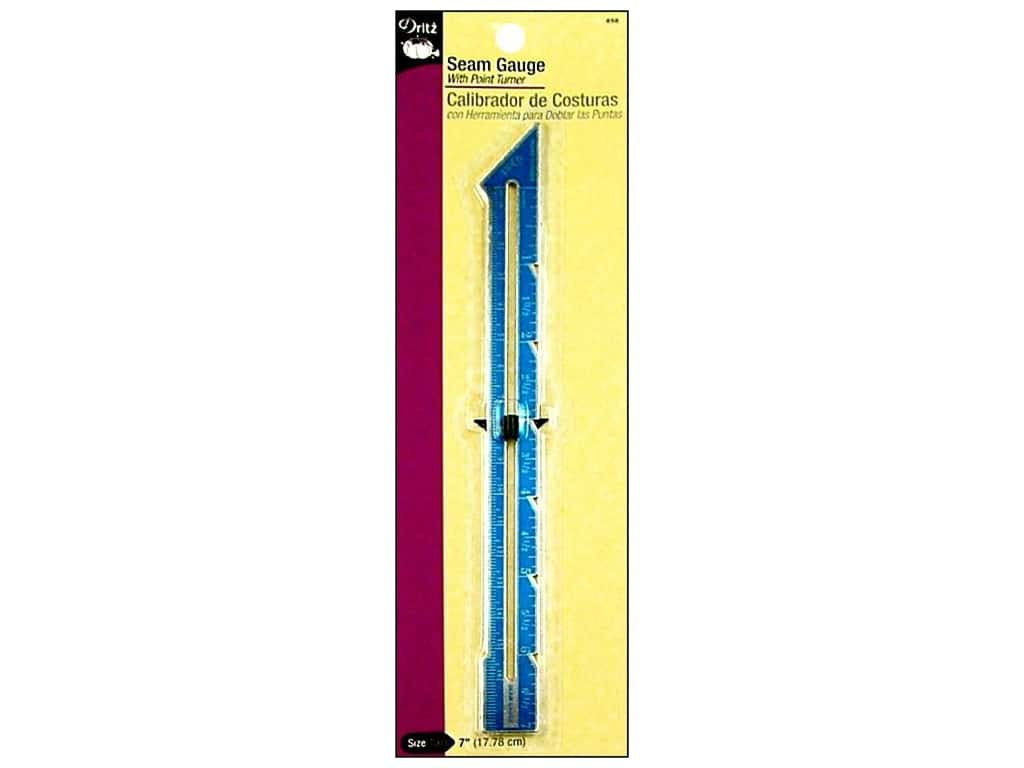 Dritz Seam Gauge with Point Turner 7 in.