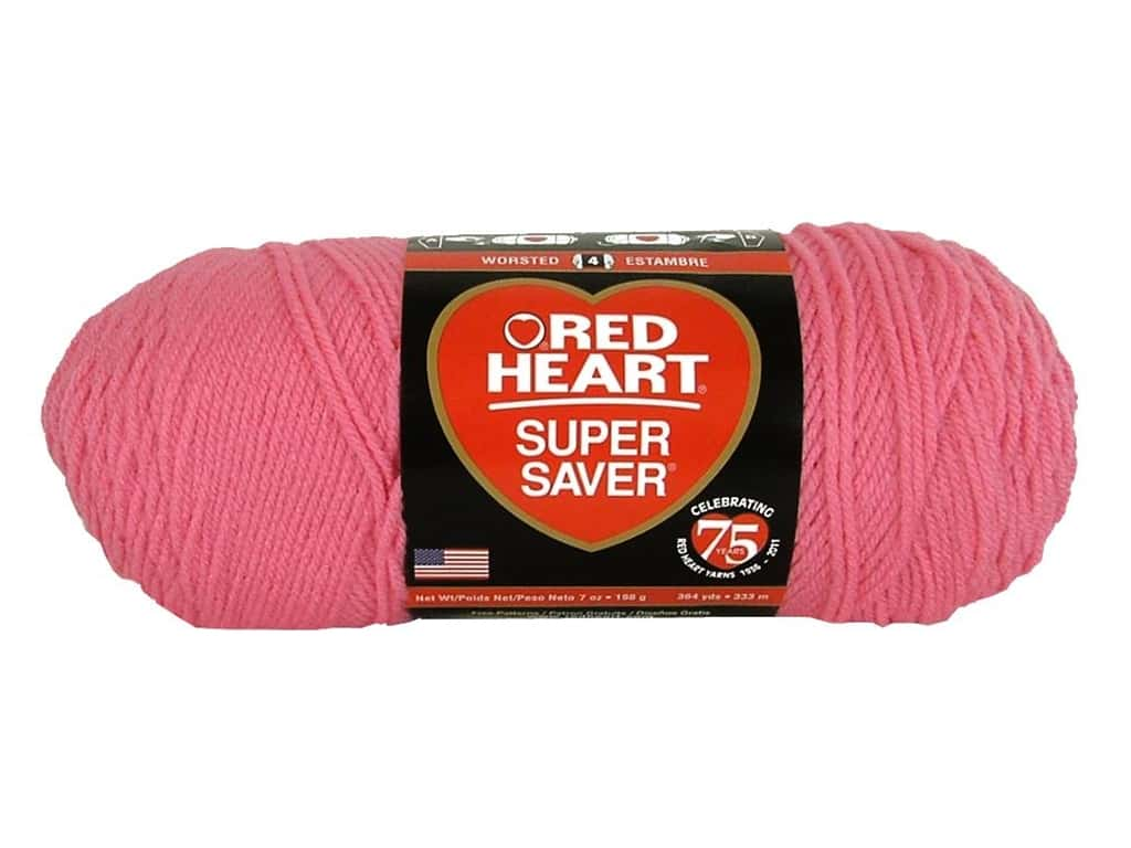 Red Heart Super Saver Yarn 364 yd. #706 Perfect Pink