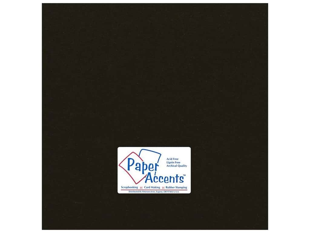 Paper Accents Cardstock 12 x 12 in. #71 Smooth Dusty Black (25 sheets)
