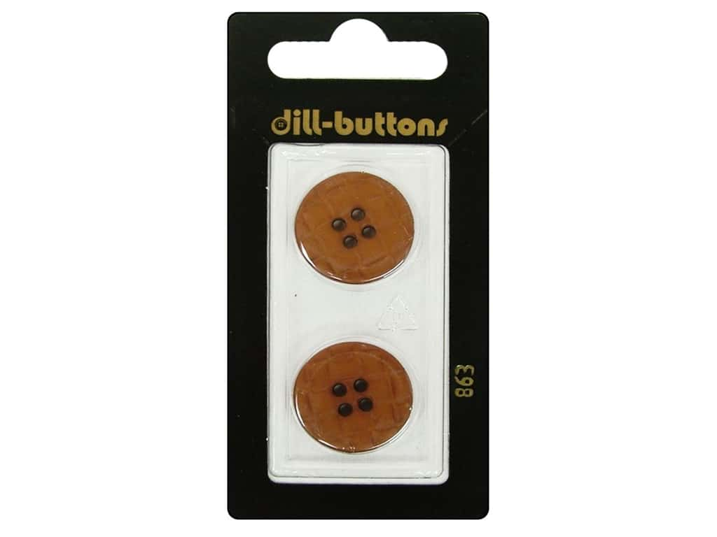 Dill 4 Hole Buttons 13/16 in. Brown #863 2 pc.