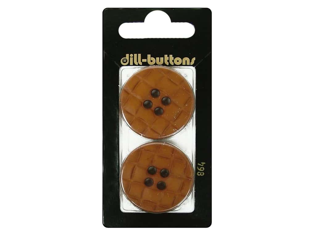 Dill 4 Hole Buttons 1 1/4 in. Brown #864 2 pc.
