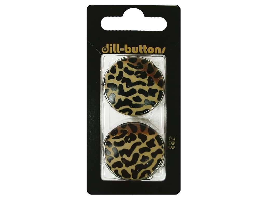 Dill Shank Buttons 1 1/8 in. Beige Print #882 2 pc.