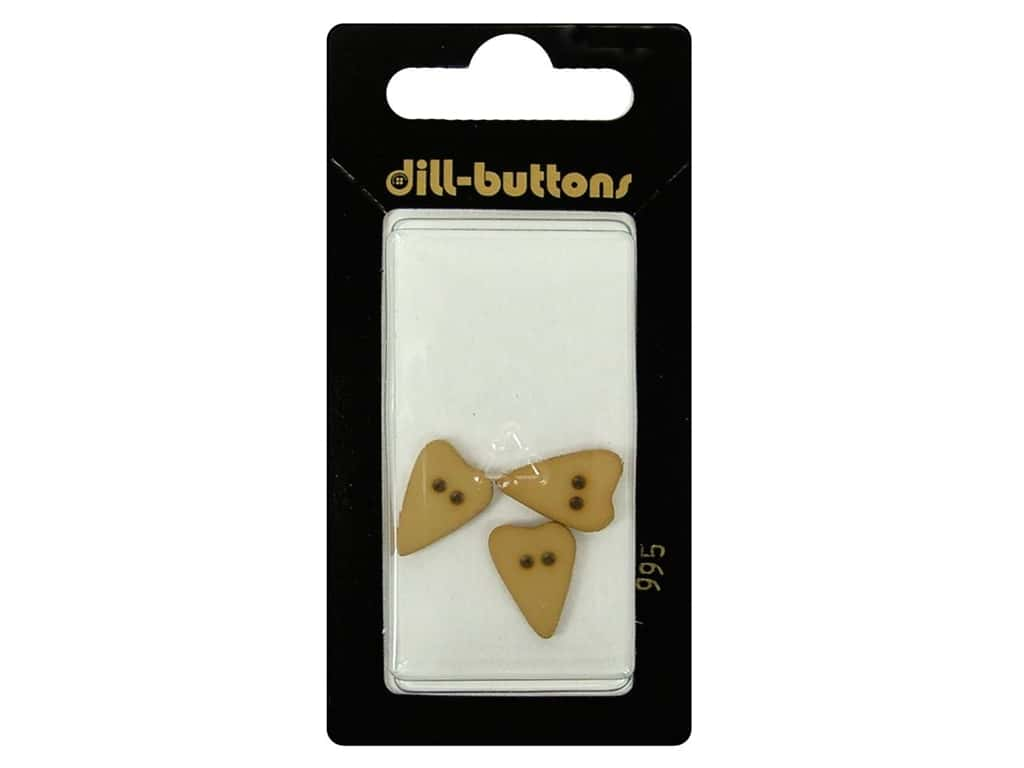 Dill 2 Hole Buttons 5/8 in. Beige Heart #995 3 pc.