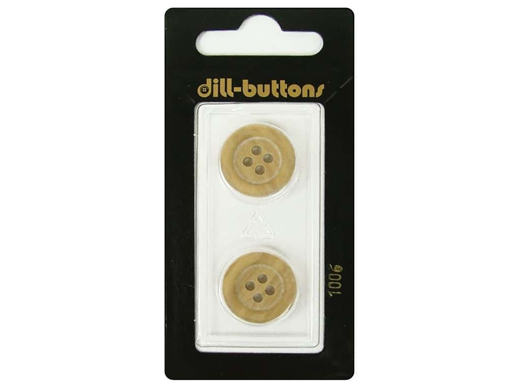 Dill 4 Hole Buttons 11/16 in. Wood Beige #1006 2pc.