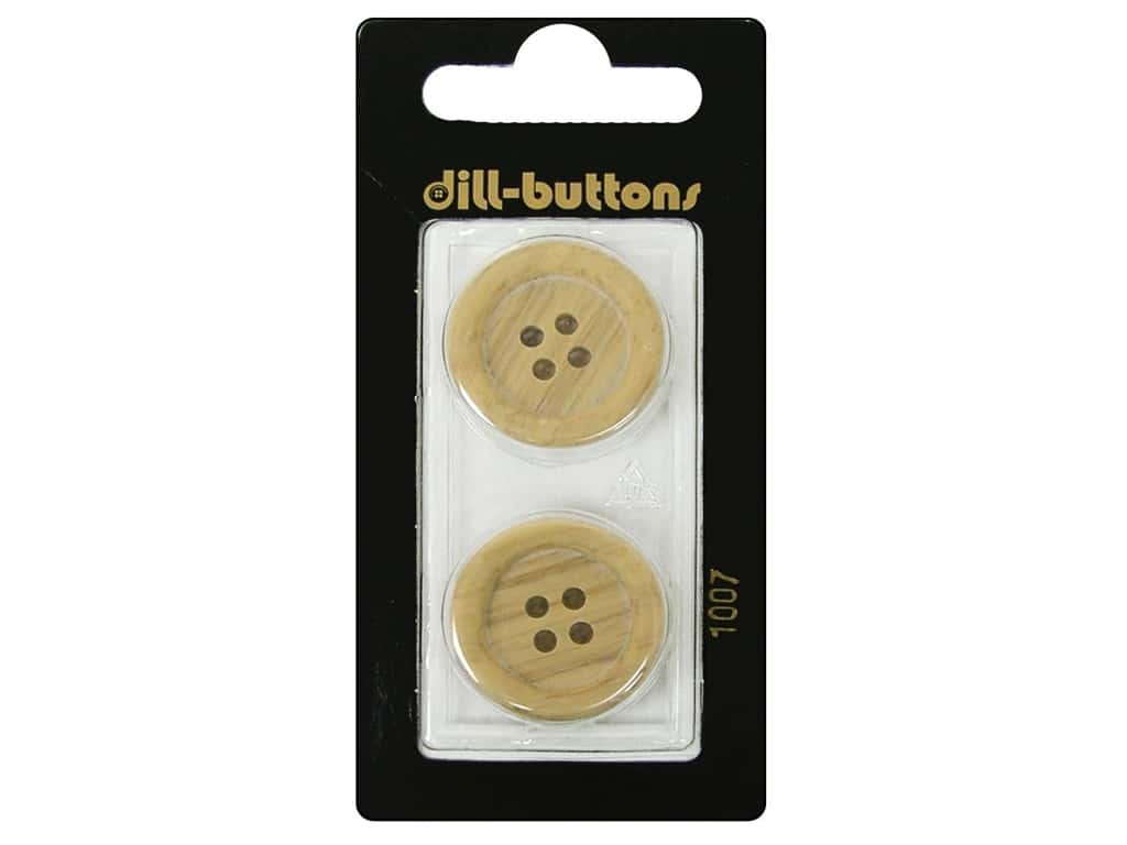 Dill 4 Hole Buttons 7/8 in. Wood Beige #1007 2 pc.