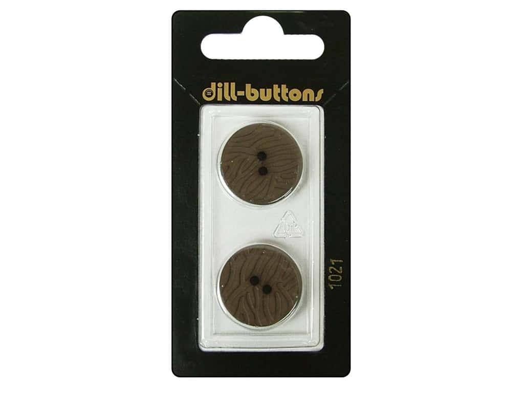 Dill 2 Hole Buttons 13/16 in. Brown #1021 2 pc.