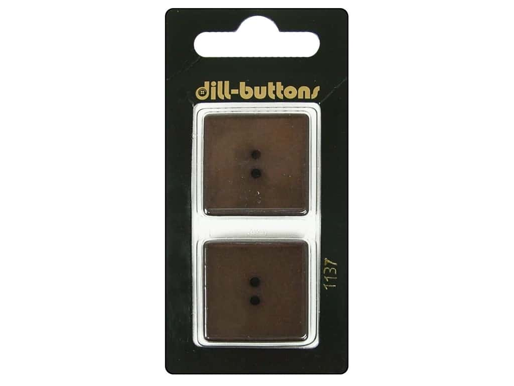 Dill 2 Hole Buttons 1 in. Brown #1137 2 pc.