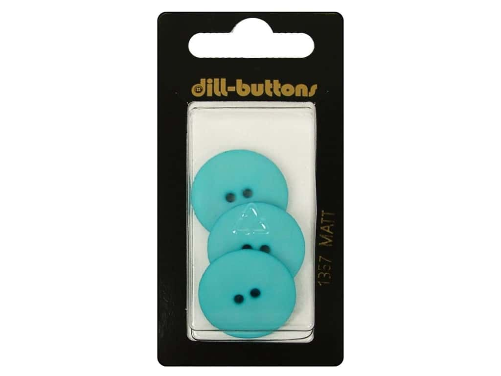 Dill 2 Hole Buttons 7/8 in. Blue #1357 3pc.