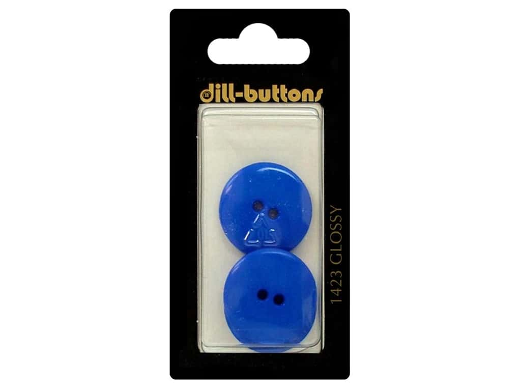 Dill 2 Hole Buttons 7/8 in. Medium Blue #1423 3 pc.