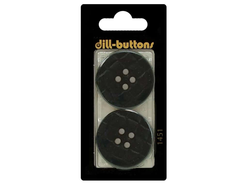 Dill 4 Hole Buttons 1 1/4 in. Navy Blue #1451 2 pc.