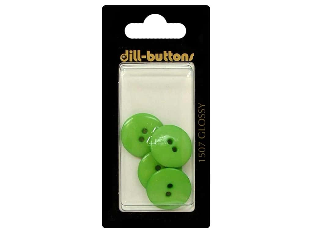 Dill 2 Hole Buttons 11/16 in. Green #1507 4 pc.