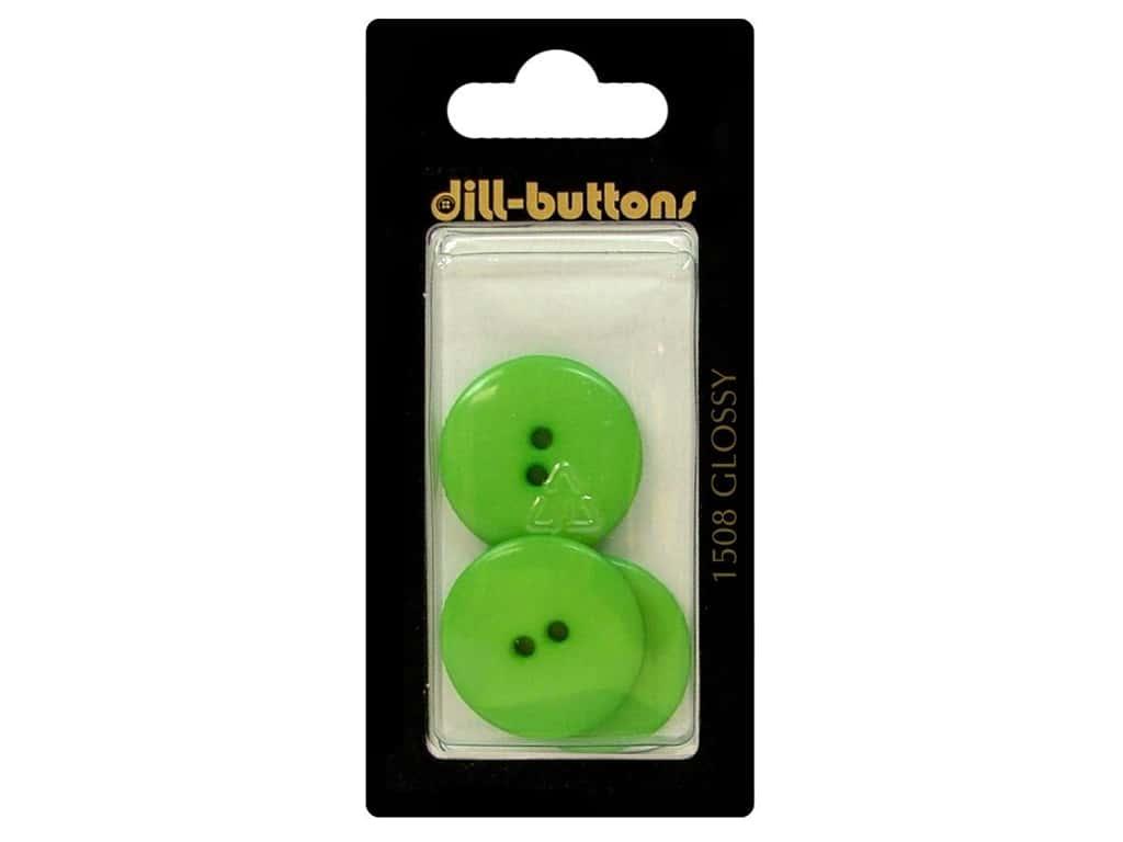 Dill 2 Hole Buttons 7/8 in. Green #1508 3 pc.