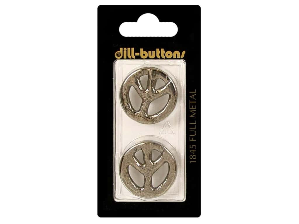 Dill Shank Buttons 7/8 in. Antique Silver Metal #1845 2pc.