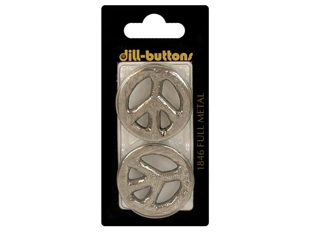 Dill Shank Buttons 1 3/16 in. Antique Silver Metal #1846 2 pc.