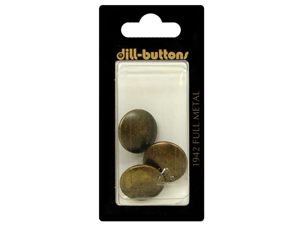 Dill Shank Buttons 11/16 in. #1942 Antique Brass 3 pc.